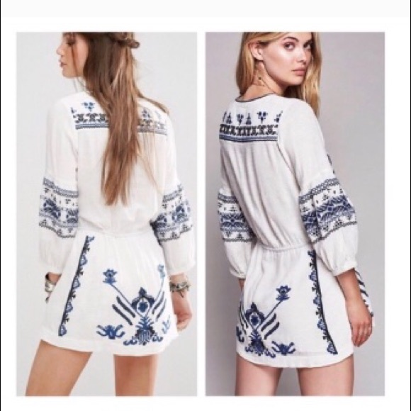 bc71e9f9b32e Free People Dresses | Anouk Embroidered Mini Dress | Poshmark